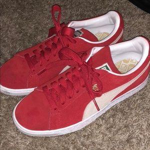 Red Puma Suedes